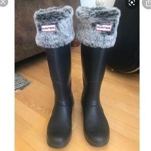 Hunter Grey Faux Fur Tall Boot Liners (Medium)